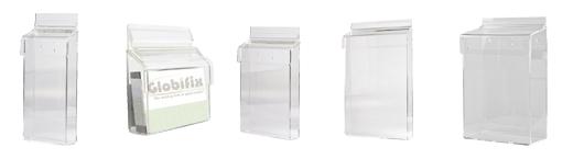 Brochureholdere i klar akryl til udendørsbrug - Kan bruges i enhver handel