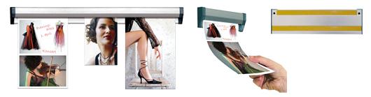 Ophæng papir og plakater i skinne med væg montering - Kvalitetsvarer