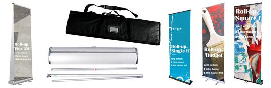 Stort udvalg af smart Roll-up-banner og Roll-ups