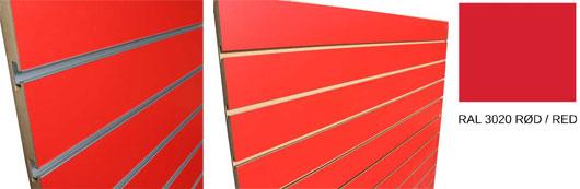 Køb Rillepanel Rød online til billig pris